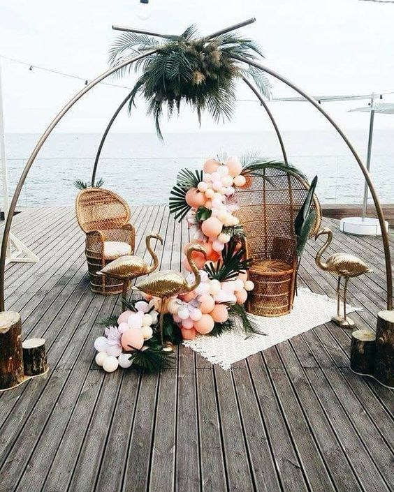 whimsical beach wedding