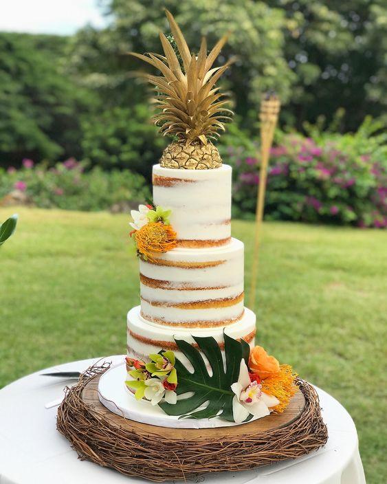 Tropical style inspiration wedding