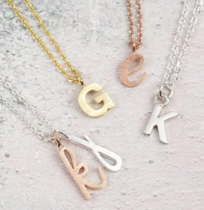 initial necklace bridesmaids gift