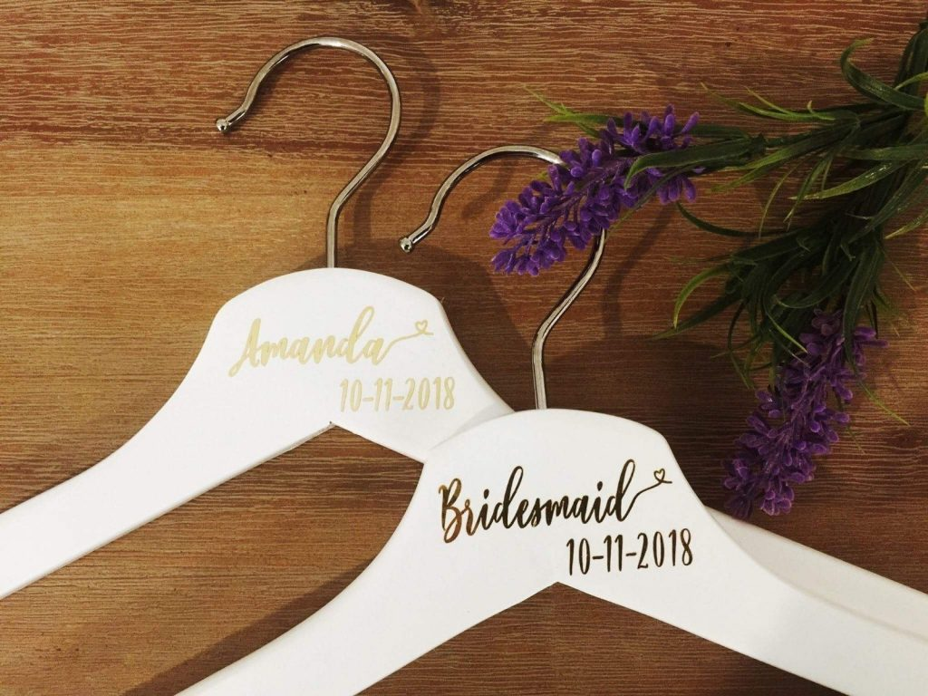 coat hangers bridesmaids gift idea