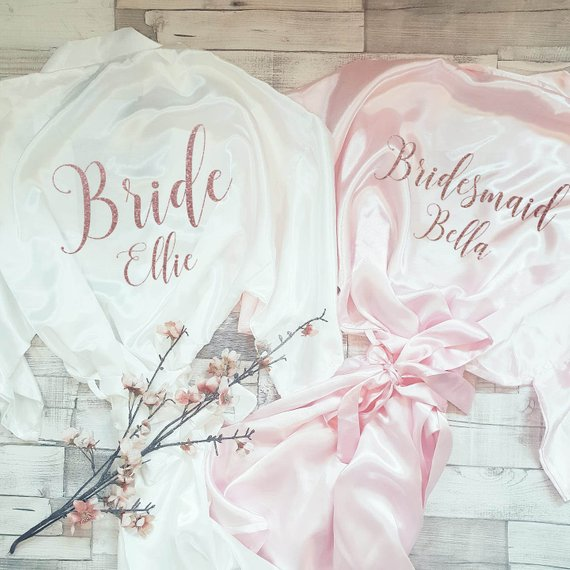 personalised robe bridesmaid gift