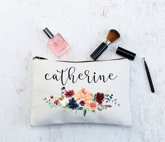 makeup bag bridesmaids gift ideas