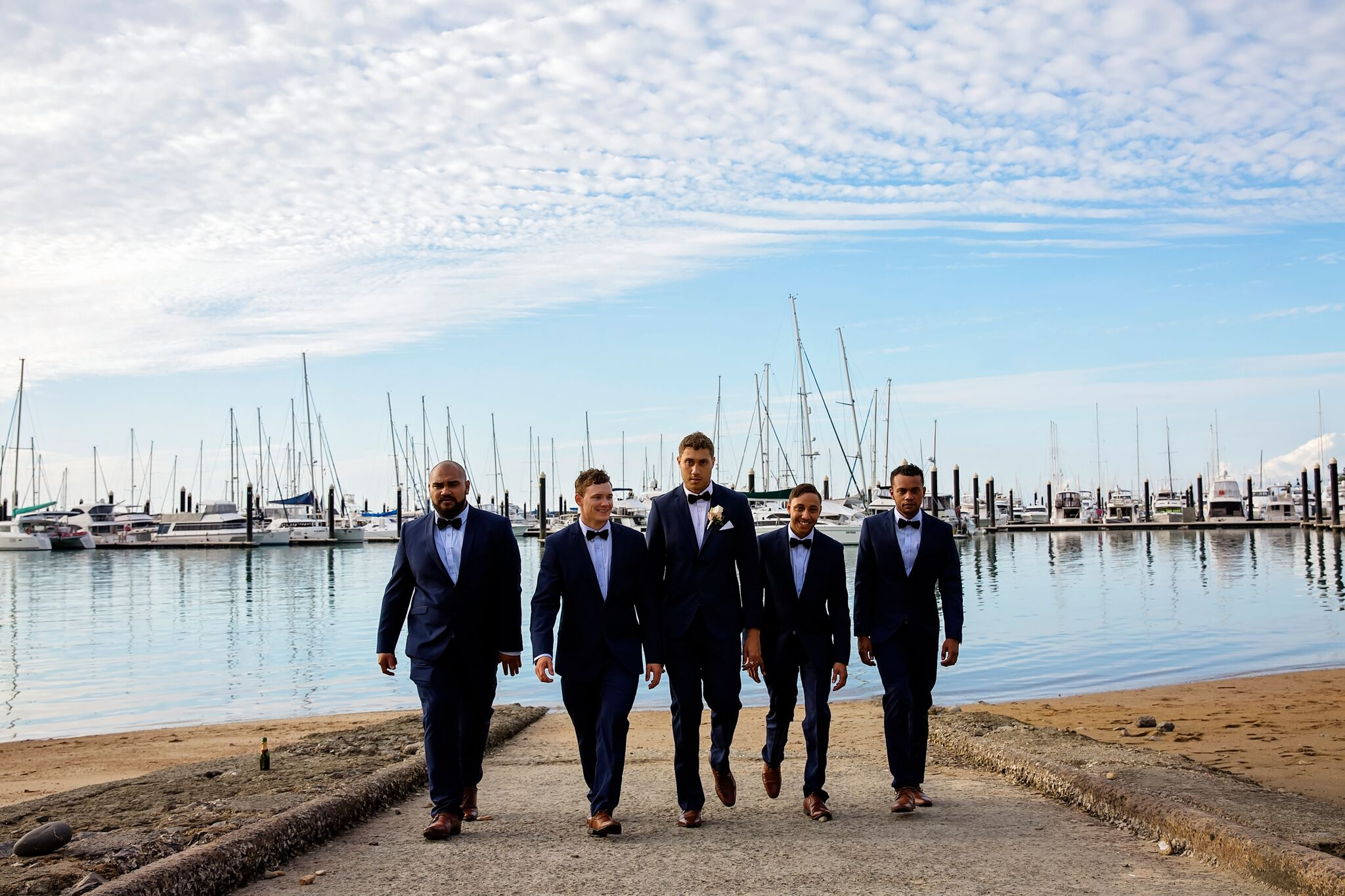 airlie beach wedding groomsmen