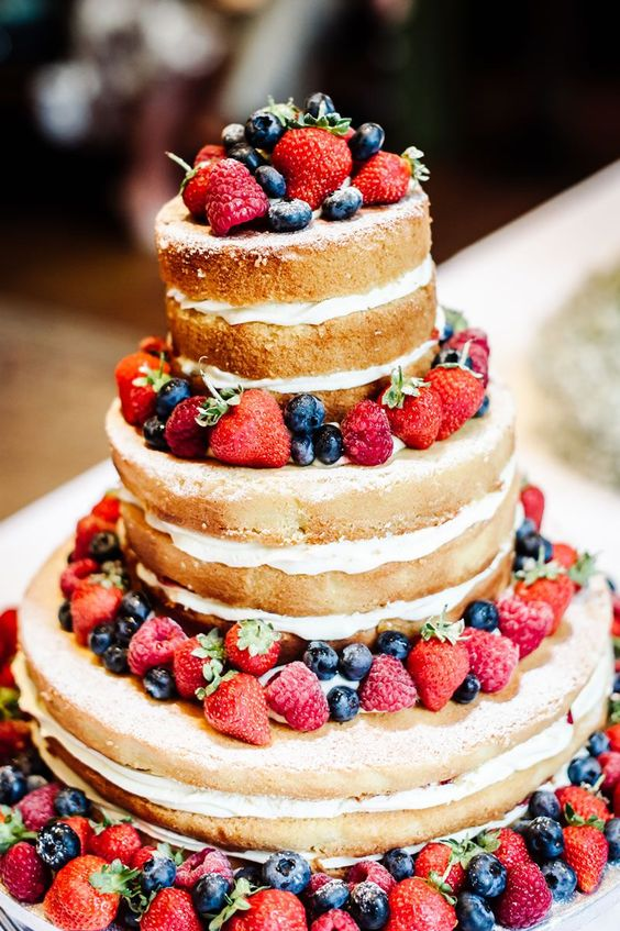 victoria sponge wedding dessert