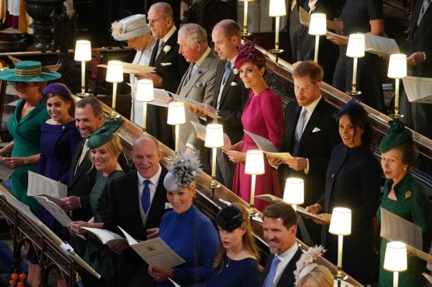 Royal guests Eugenie Wedding