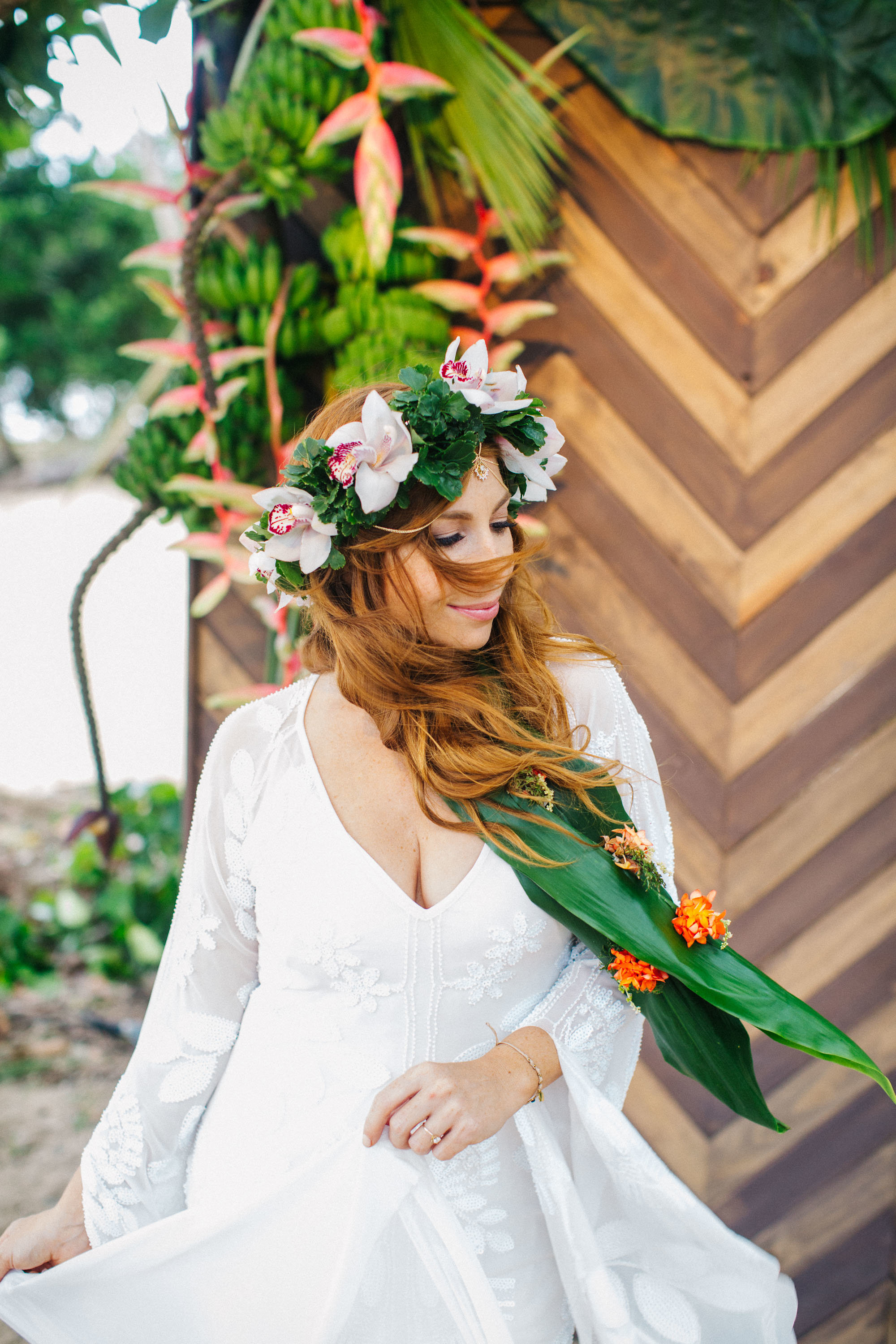 tropical wedding dress