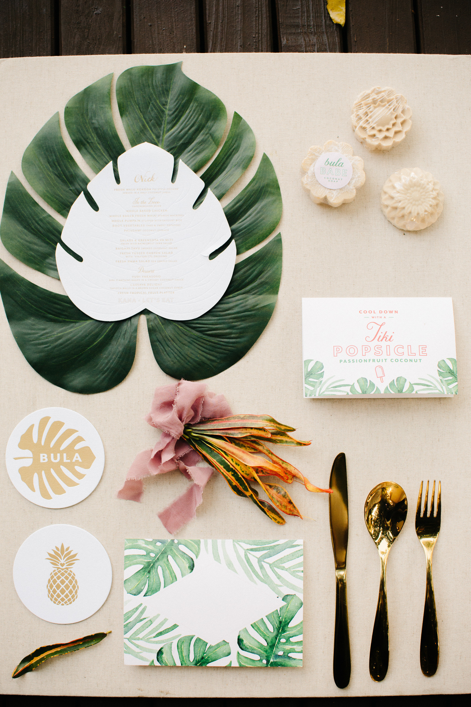 tropical wedding stationary