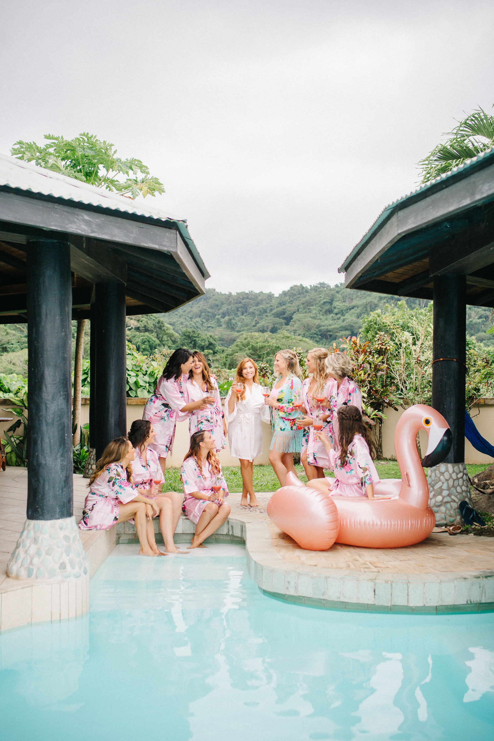 bridesmaids style fiji tropical