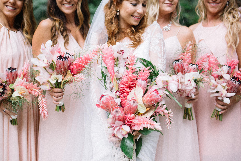 tropical bridesmaids