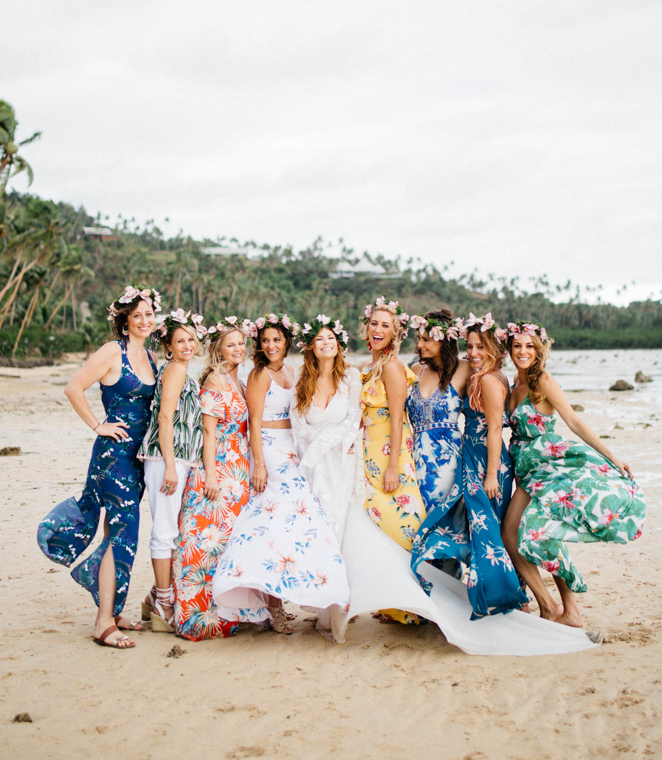 colourful bridesmaids dresses