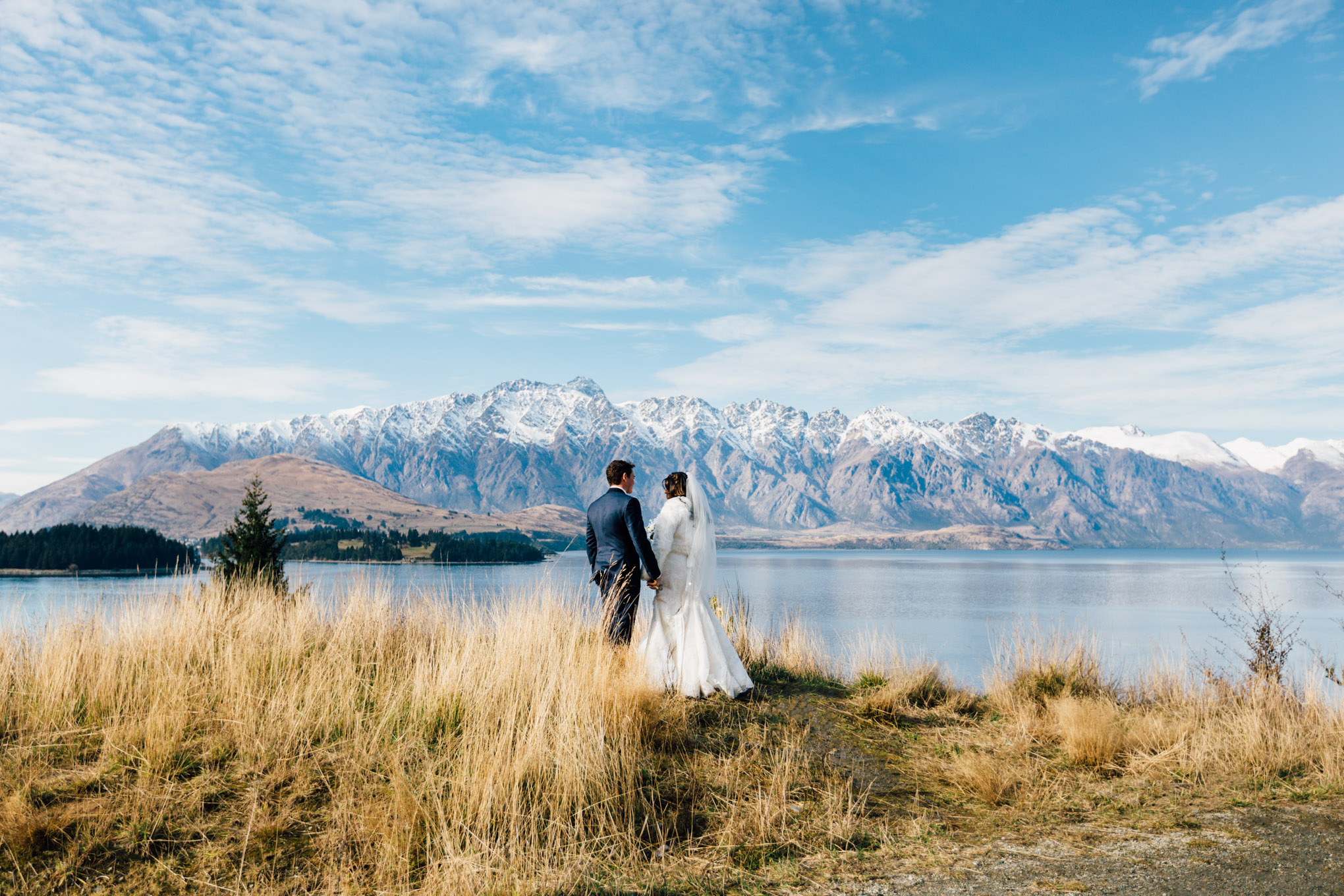 first look destination wedding new zealand