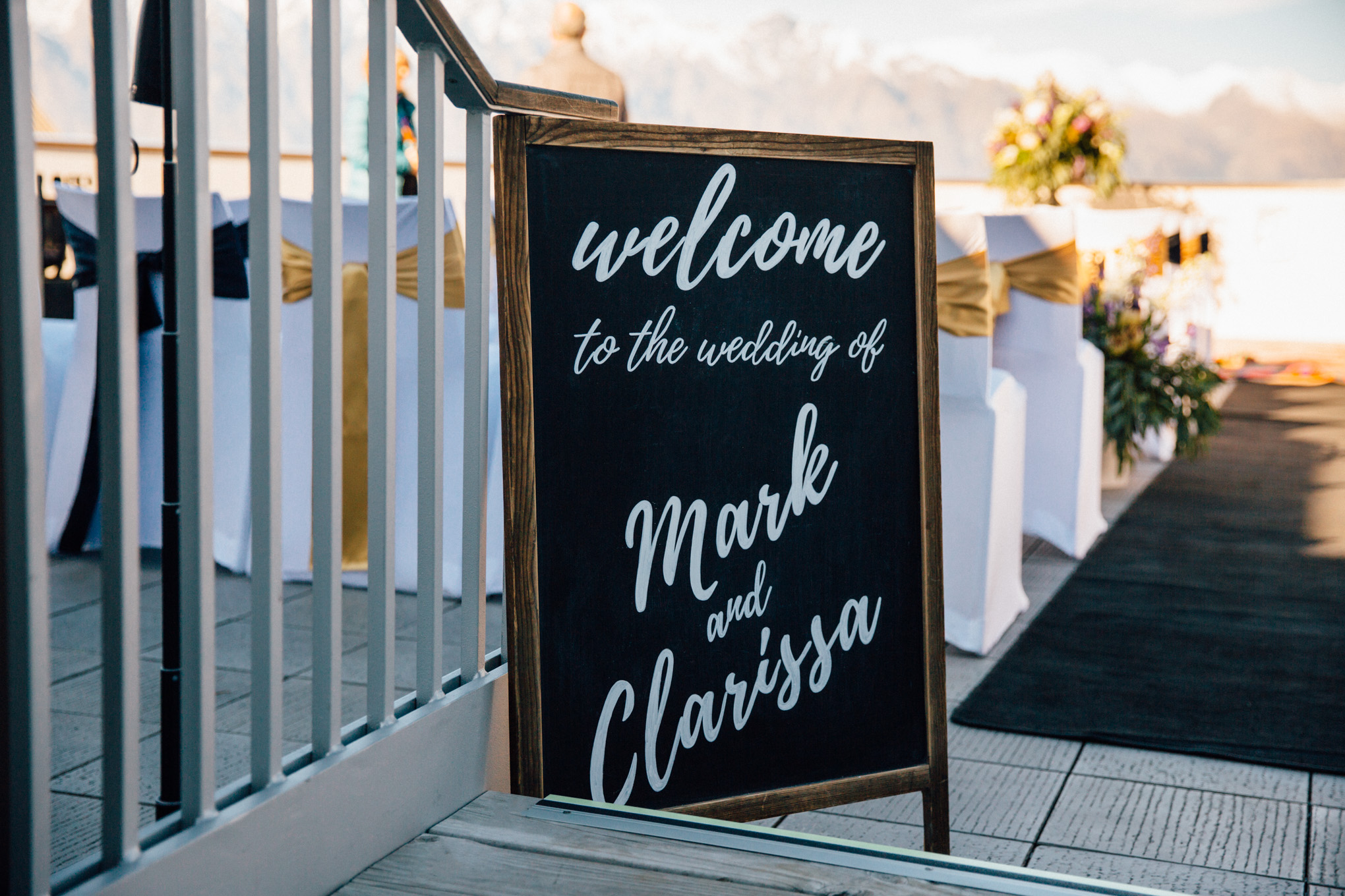 new zealand bride and groom sign