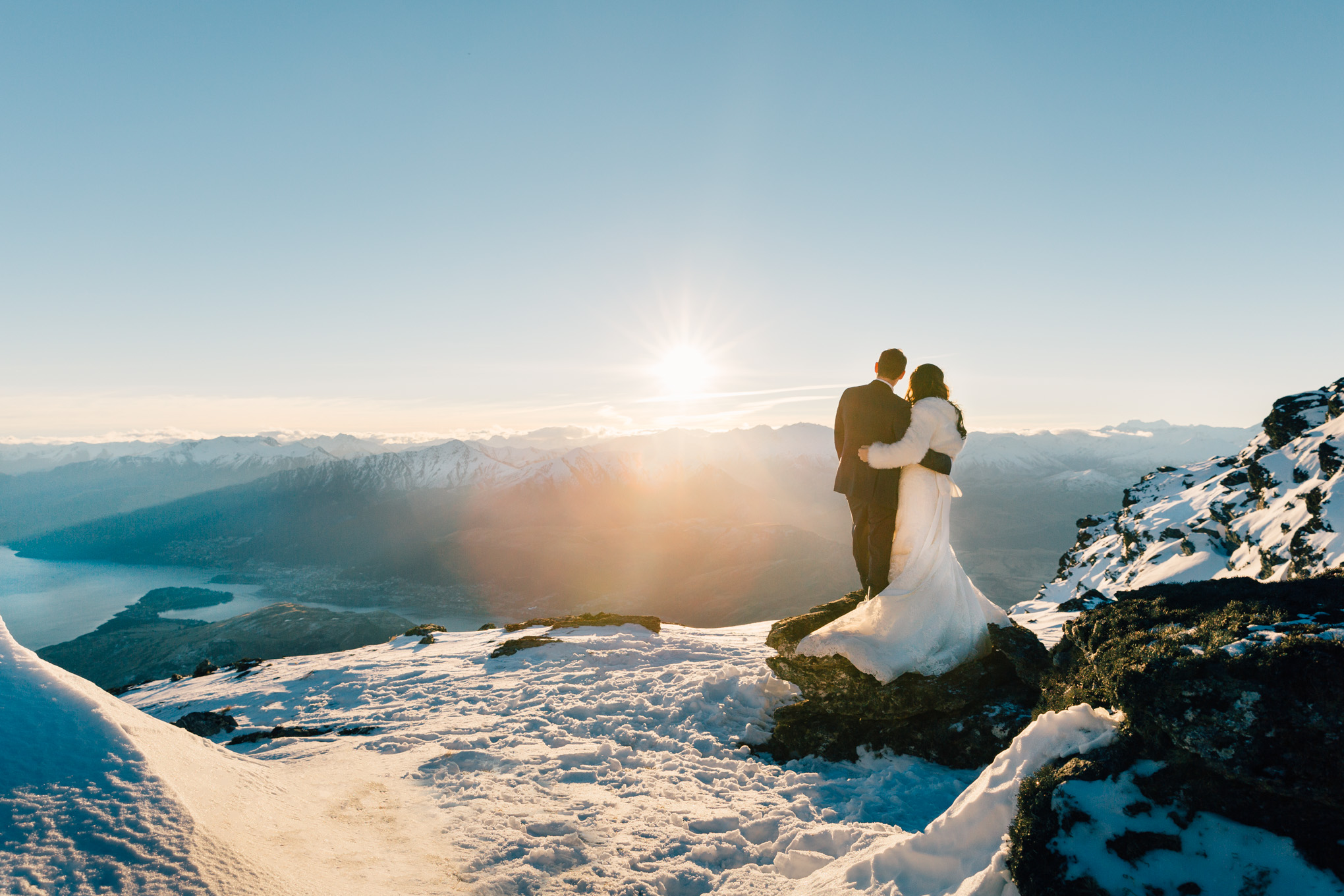 snow wedding the remarkables