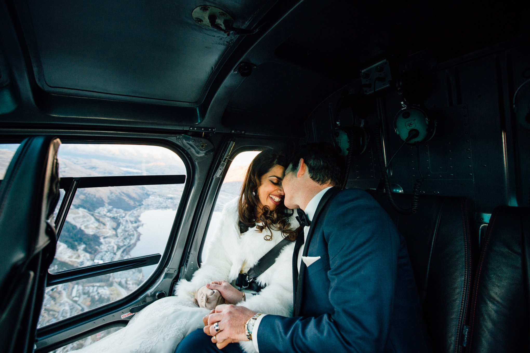 helicopter ride queenstown wedding
