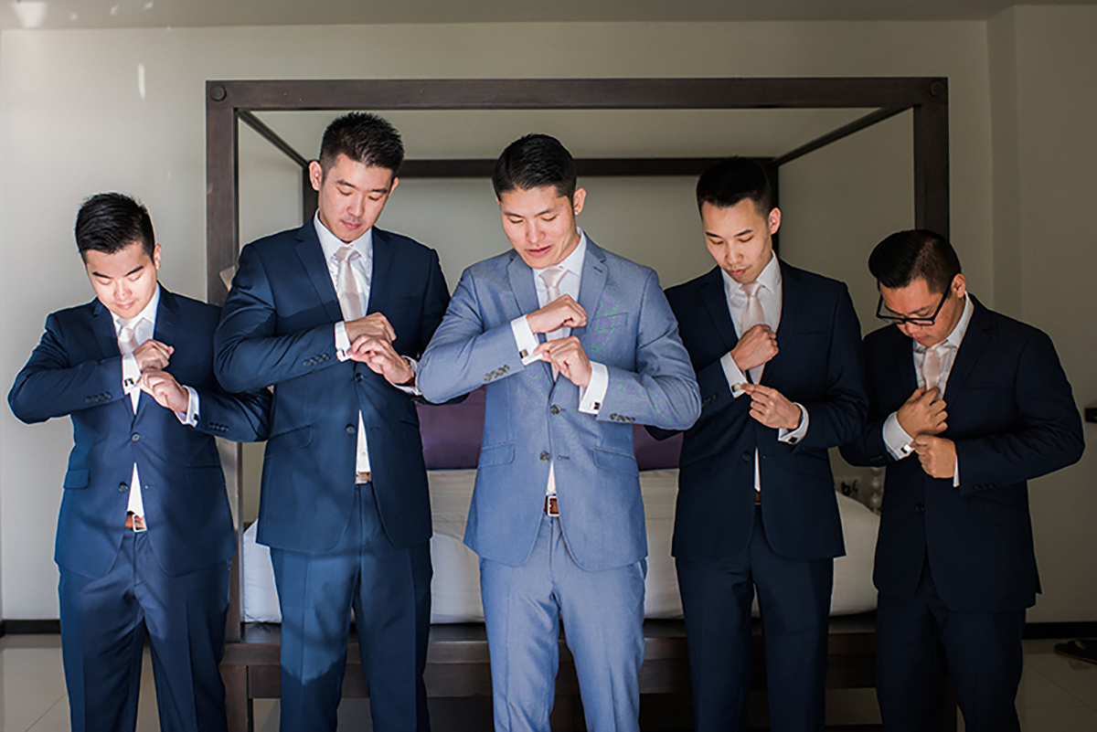 groomsmen thailand wedding