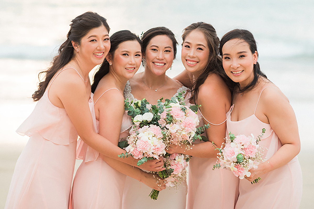 bridal party phuket wedding