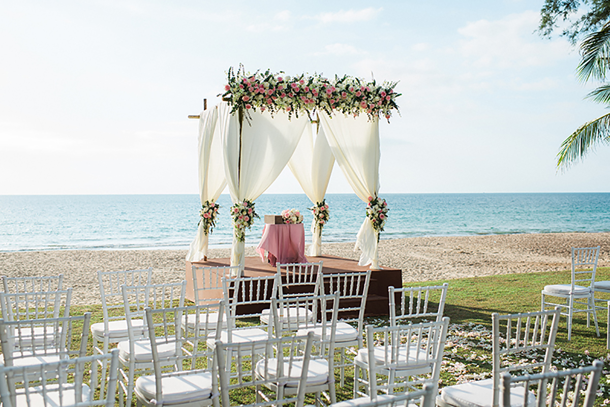 Thailand beach wedding arbour