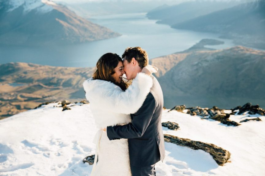 destination wedding snow queenstown new zealand