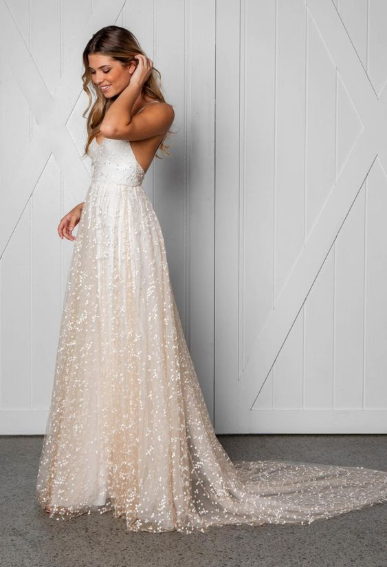 beaded wedding dress non-traditional