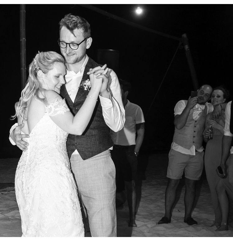 first dance: Catherine and Charlie