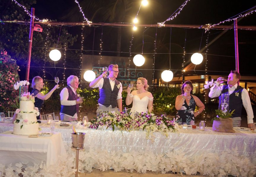 Wedding reception in the Philippines