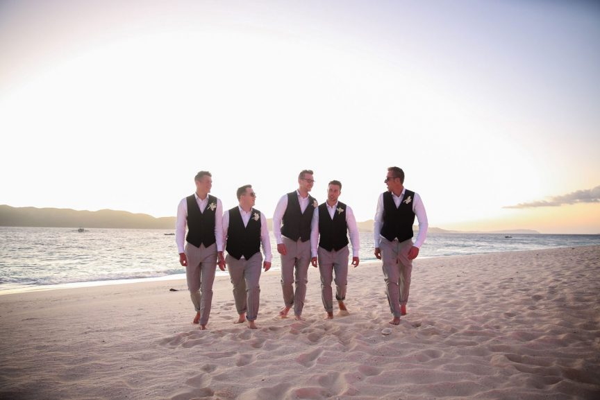 Charlie and his groomsmen