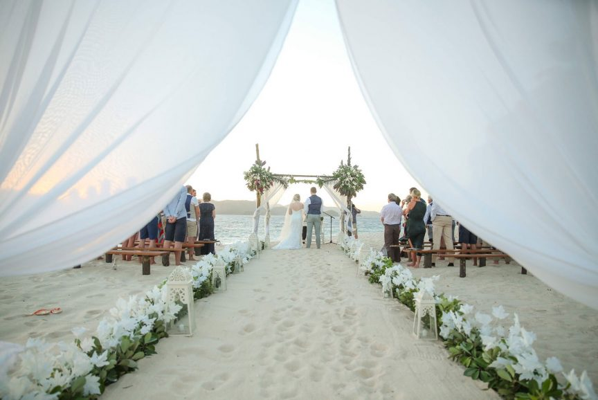 beachfront ceremony in the Philippines
