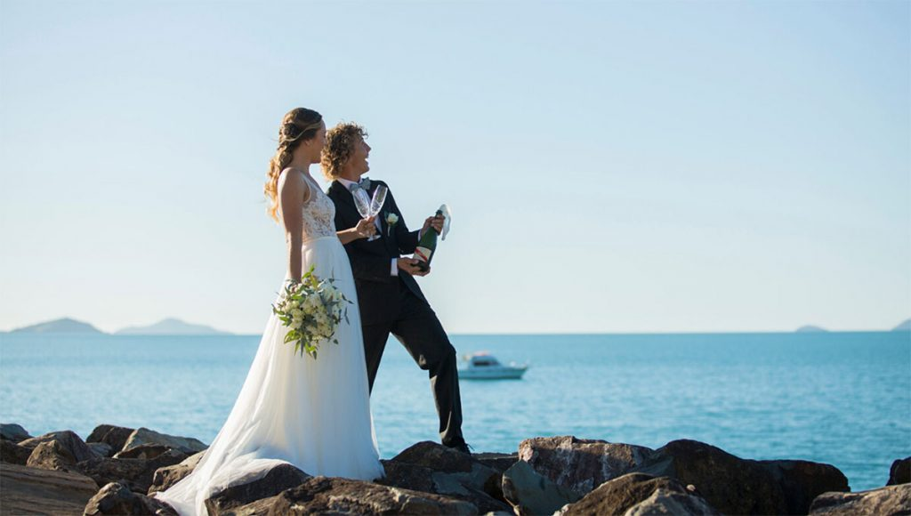 Coral Sea Marina Resort Whitsundays Elopement package